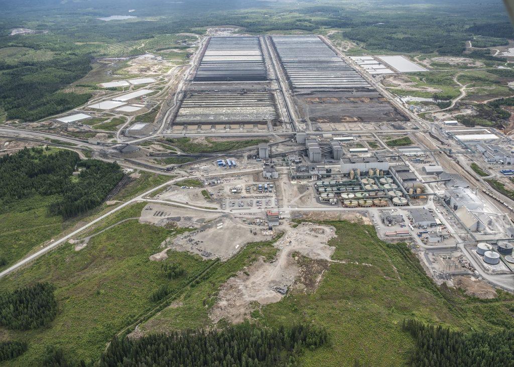 Ilmakuva Talvivaaran kaivoksesta vuonna 2013
